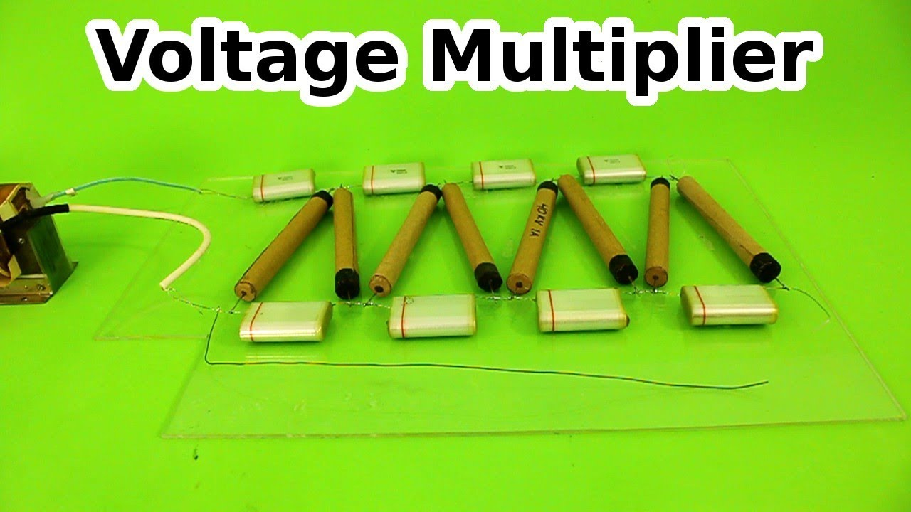 Voltage Multiplier with Homemade High Voltage Diodes