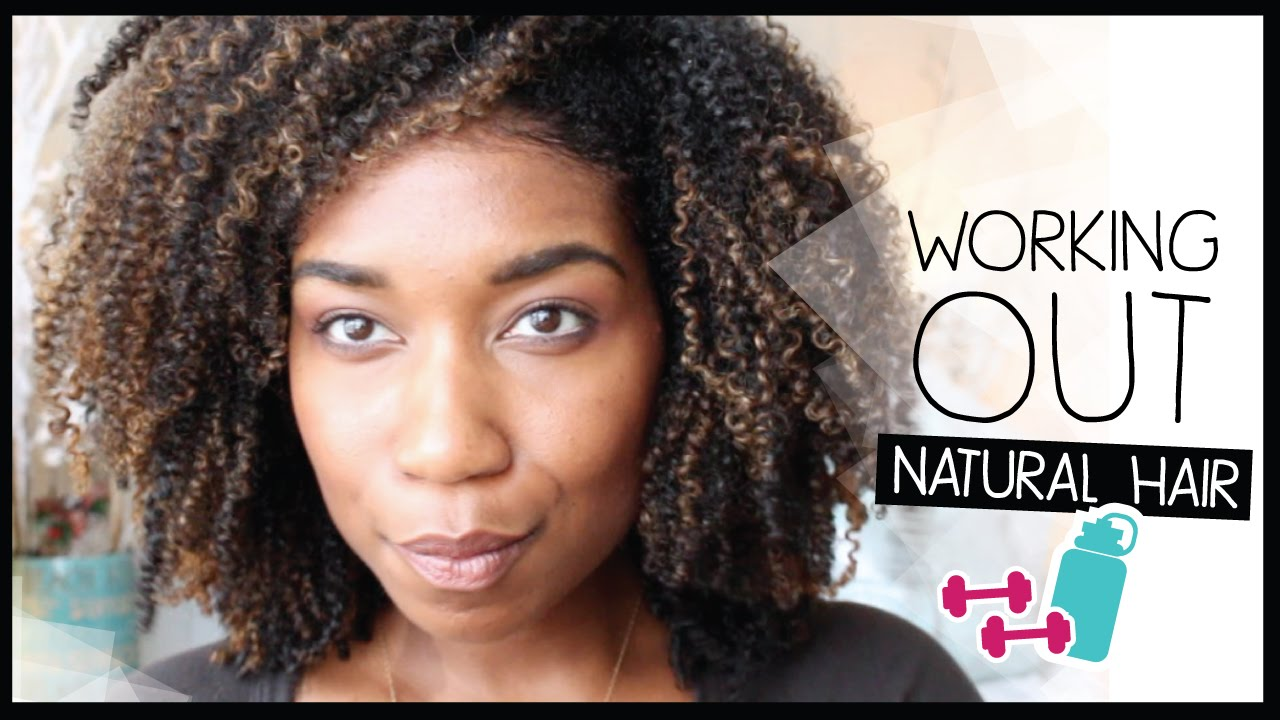 Grwm Preparing My Natural Hair To Work Out Natural Hair