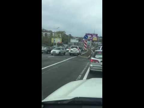 Владивосток прадо по встречке