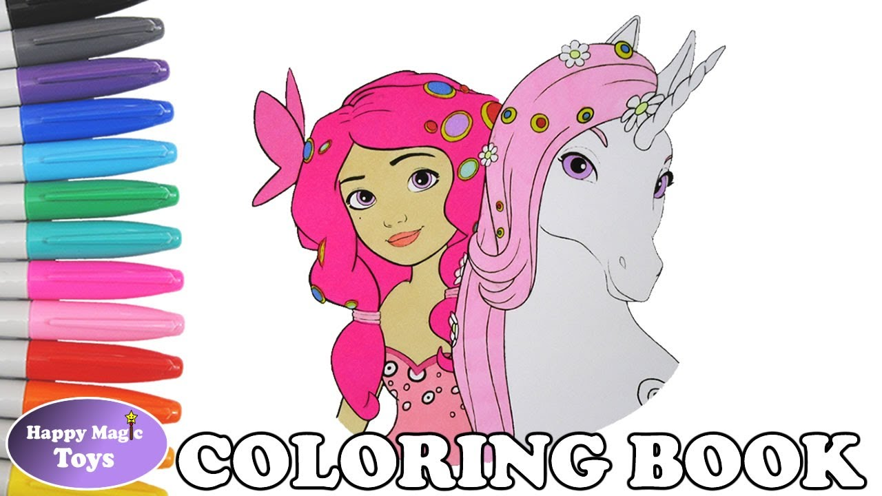 Mia and me coloring book pages