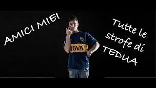 TEDUA AMICI MIEI MIXTAPE TUTTE LE STROFE DI TEDUA