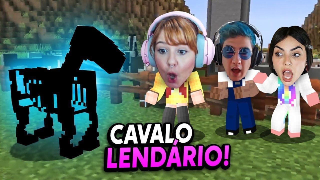 ENCONTRAMOS UM CAVALO FANTASMA LENDÁRIO NO MINECRAFT!