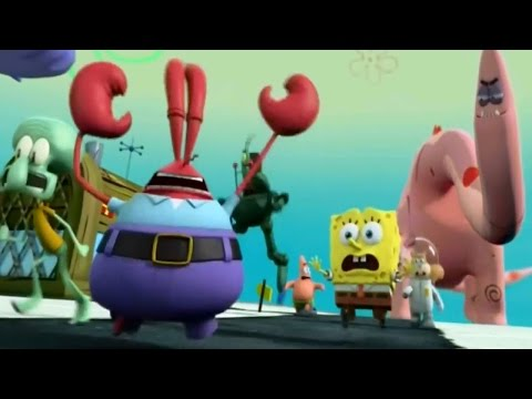spongebob heropants all cutscenes movie full hd kids shows full