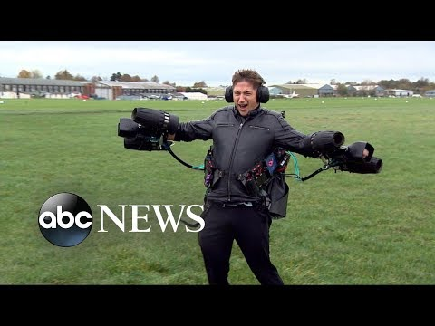 British inventor sets jet suit record