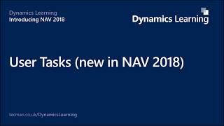 User Tasks (new in Dynamics NAV 2018)