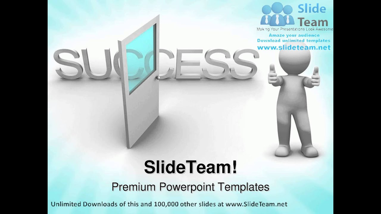 Open The Door Success Powerpoint Templates Themes And Backgrounds