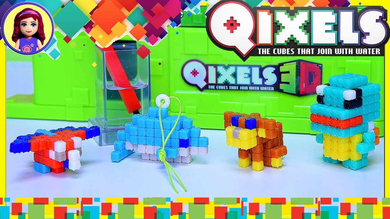 Qixels 3d figure maker design creator build puppy dolphin for 3d building creator