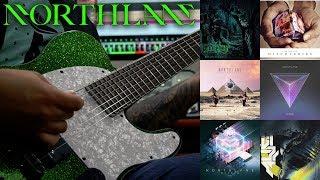 NORTHLANE Guitar Riff Evolution Hollow Existence - Alien Guitar Riff Compilation