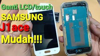 Cara ganti lcd samsung j1ace dengan alat seadanya  mudah!!!