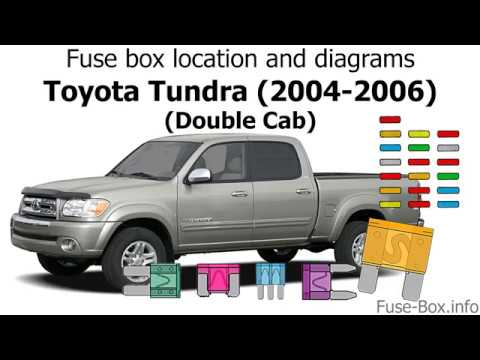 Fuse box location and diagrams: Toyota Tundra (2004-2006) (Double Cab) -  YouTubeYouTube