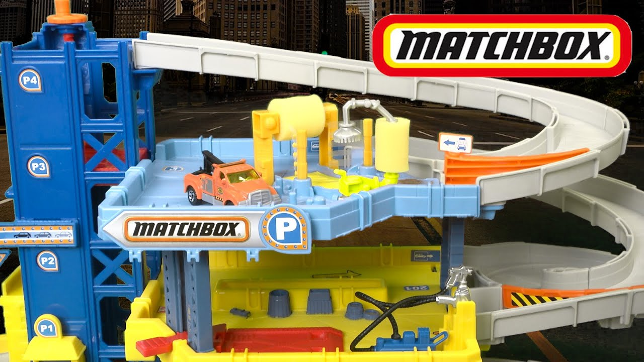 matchbox mission 4 level garage from mattel youtube. Black Bedroom Furniture Sets. Home Design Ideas