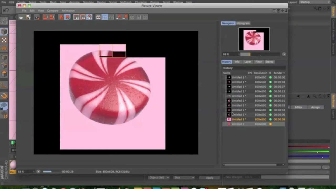 peppermint candy in cinema 4d tutorial youtube. Black Bedroom Furniture Sets. Home Design Ideas