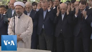 Turkey's Erdogan Attends Prayers for Egypt's Ex-President Morsi