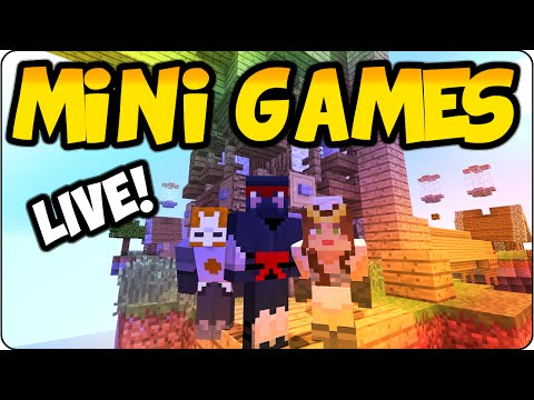 Minecraft PS3, PS4 Ultimate Mini Stream - Sky Wars + Hide & Seek Crazy Multiplayer Gameplay