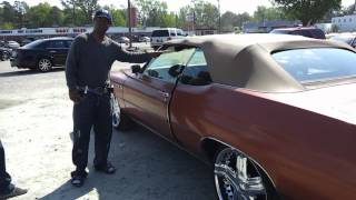 1975 Buick Lesabre sitting on some 22's Getting estimate from Pedro!