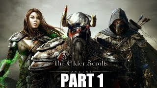 The Elder Scrolls Online Gameplay Walkthrough Part 1 - PC Ultra Settings Let's Play Review