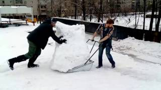 Очистка крыши от снега Большие объемы #Череповец Промальп Уборка снега(, 2017-02-21T16:22:01.000Z)