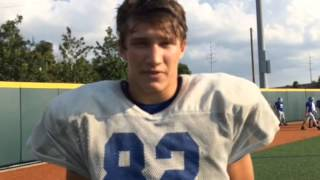 Jesuit tight end Foster Moreau discusses his chemistry with Trey LaForge
