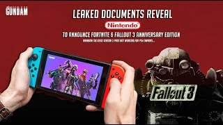 Rumored Nintendo E3 Leaks Fortnite on the switch & Fallout 3 Anniversary