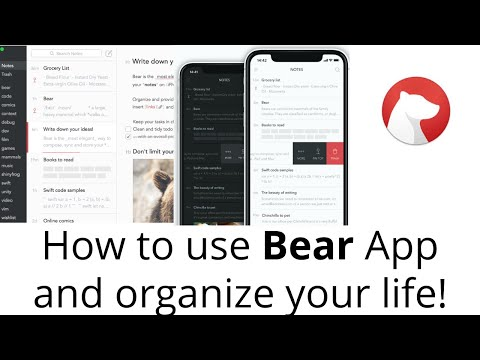 How To Use Bear App To Organize Your Life! Do Not Miss!!