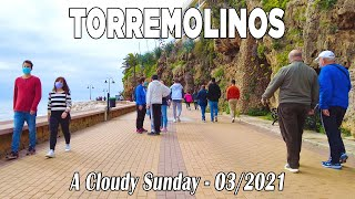 Torremolinos on a Cloudy Sunday, Walking Tour in March 2021, Malaga, Spain [4K]