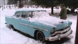 1956 Plymouth Savoy In The Snow