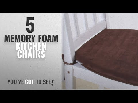 Top 10 Memory Foam Kitchen Chairs [2018]: MochoHome Memory Foam Dining Chair Cushion Pad with Ties,