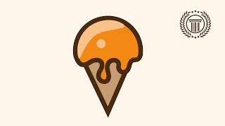 ice cream logo design illustrator | how to make ice cream shape icon logo in illustrator