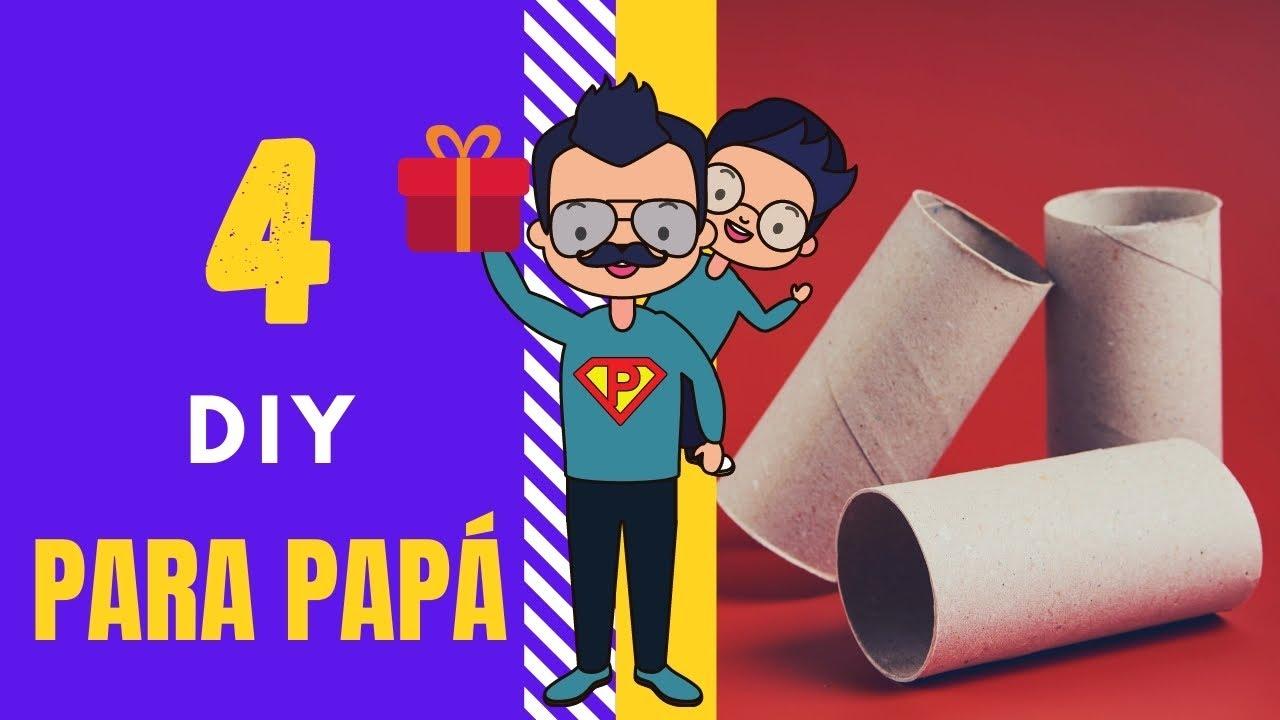 4 Manualidades Día del Padre con rollos de papel fáciles