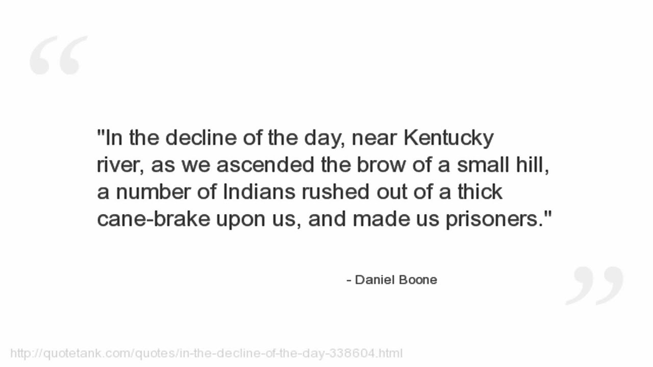 Brake Quotes Daniel Boone Quotes  Youtube