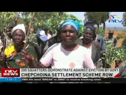 Chepchoina settlement scheme row: 200 squatters demonstrate against eviction by government