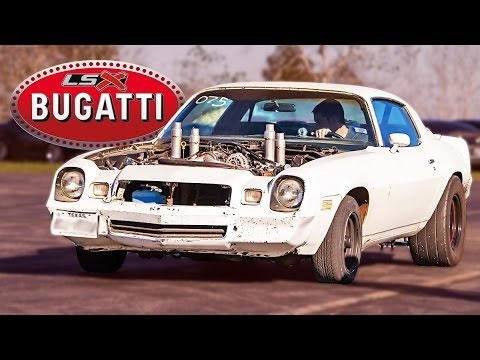 We Go Racing With The Quad-Turbo Junkyard Bugatti Camaro