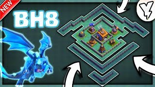 BEST BH8 BASE LAYOUT TESTED WITH REPLAY✔✔ | BUILDER HALL 8 DEFENSE BASE DESIGN IN COC | 100% PROOF