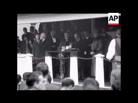 KING GEORGE V MAKES SPEECH  - OPENS NEW BRIDGE AT NEWCASTLE ON TYNE - SOUND