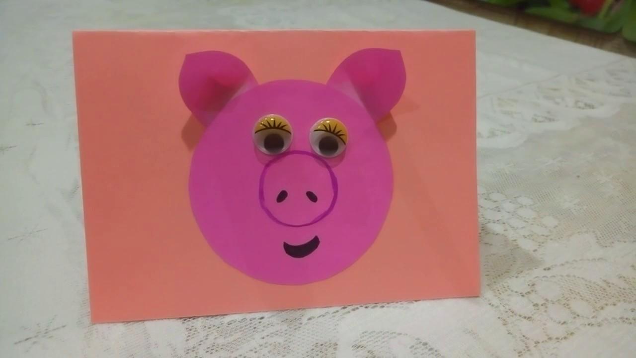 Сделать открытки с новым годом 2019 свиньи