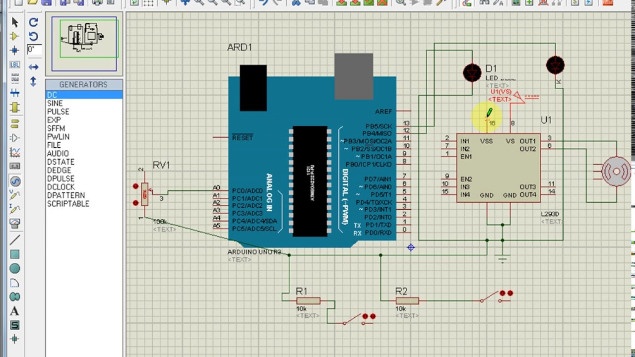dc motor speed direction control rotary encoder matlab arduino isis project [ 1280 x 720 Pixel ]