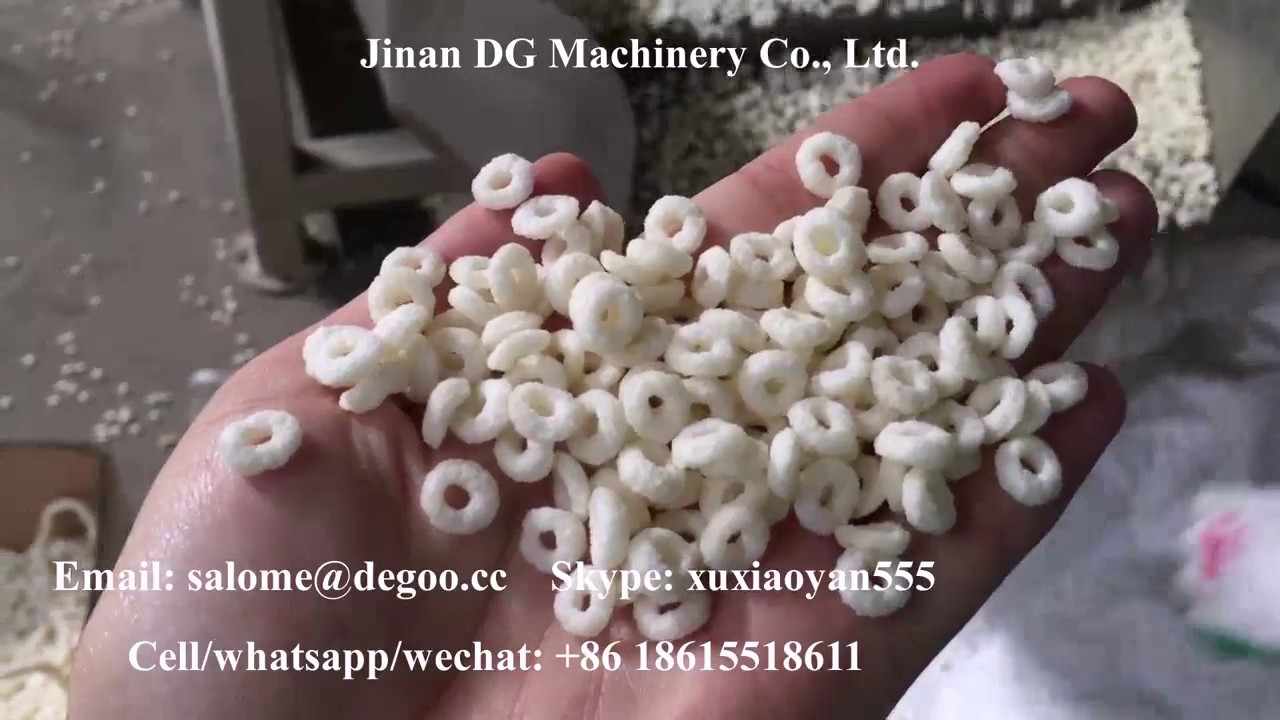 Twin Screw Extruder Fruit Rings Cereal Froot Loops Extruding Machinery Production Line Youtube