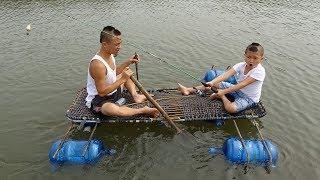Chế Tạo Thuyền Buggy Cực Chất Để Ra Khơi Câu Cá - Cười Há Mồm Với Những Trò Chơi Của Anh Em Tam Mao