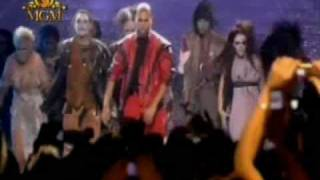 Chris Brown Thriller (Tribute to Michael Jackson) VMA 2006 [HD]