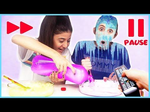 Pause Slime Challenge Sürpriz Malzemeli Slaym Eğlenceli Çocuk Videosu Dila Kent