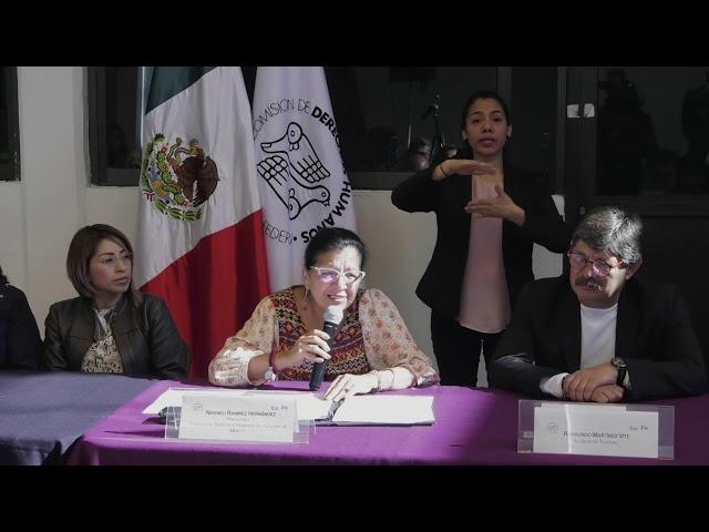 Discurso de la Presidenta de la CDHCM en inauguración de Delegación, en la Alcaldía Tláhuac