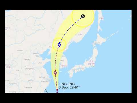 Супертайфун ЛИНЛИН Super Typhoon LINGLING  Шанхай, Китай, Сеул, Владивосток,  Хабаровск