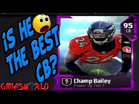 POWERUP Tier 7 CHAMP BAILEY IS THE GLITCHEST CB IN MUT 18 FULL DETAILS live review full game