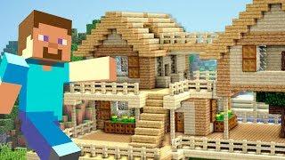 СТРОЮ СВОЙ ПЕРВЫЙ ДОМ в МАЙНКРАФТ ВЫЖИВАНИЕ!! (Minecraft #5)