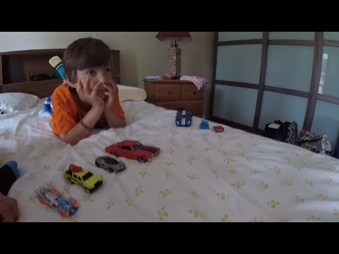 kids Playing Toy Cars Hot Weels FUN!  Childrens toys imagination!