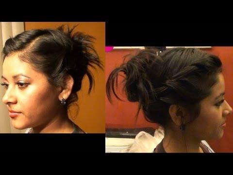 peinado recogido para pelo corto y mediano especial para fiestas