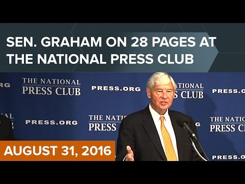 Bob Graham at National Press Club: Pursuing Justice for 9/11—the 28 Pages and Beyond