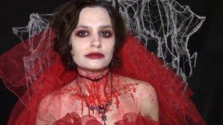 Грим мертвой невесты на Хэллоуин. Dead bride Halloween makeup tutorial.