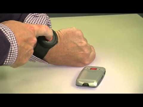 """MOBILE Bluetooth SOS-Armband für Notruf-Handy """"XL-937"""" von simvalley (PX-3461-821)"""