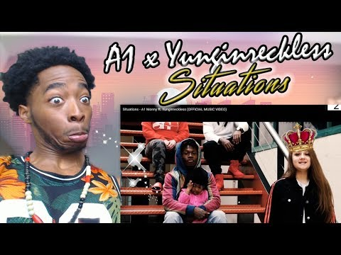 THIS THE GIRL FROM TWITTER? Situations - A1 Monny Ft. Yunginreckless (OFFICIAL MUSIC VIDEO) REACTION